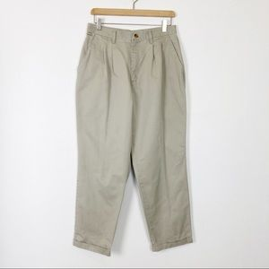 Vintage high waisted khakis mom pants loose cut